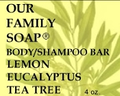 Lemon Eucalyptus Tea Tree Body/Shampoo Bar