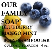 Blueberry Mango Mint Body/Shampoo Bar