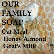 Oatmeal Honey Almond Goat's Milk Bar Soap