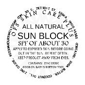 ALL NATURAL SUN BLOCK, SPF 30