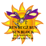 RUN BUGZ RUN ALL NATURAL SUN BLOCK, SPF 30
